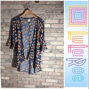 LuLaRoe Linsey Cardigan Kimono Size S